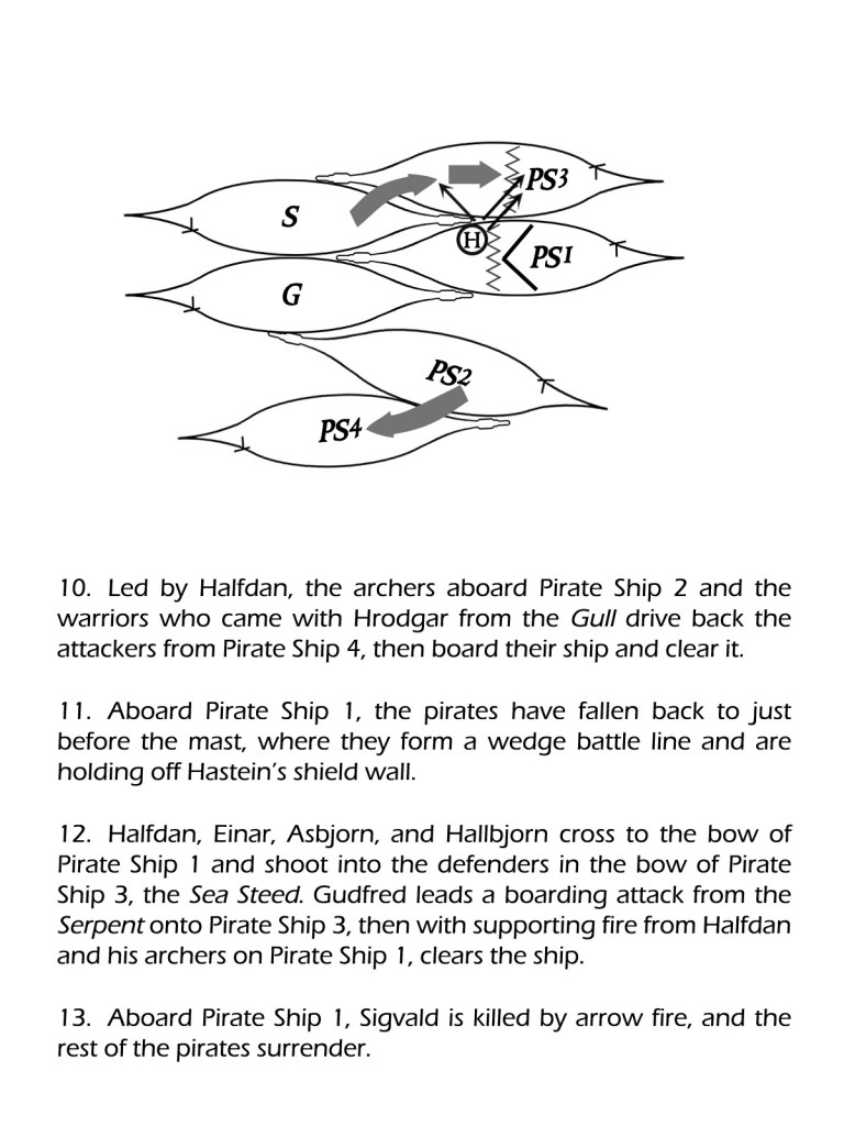 The Long Hunt, sea battle diagram 4